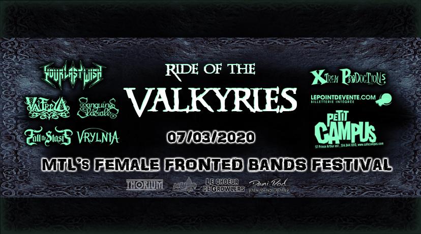 banniere concert Ride of the Valkyries Montréal