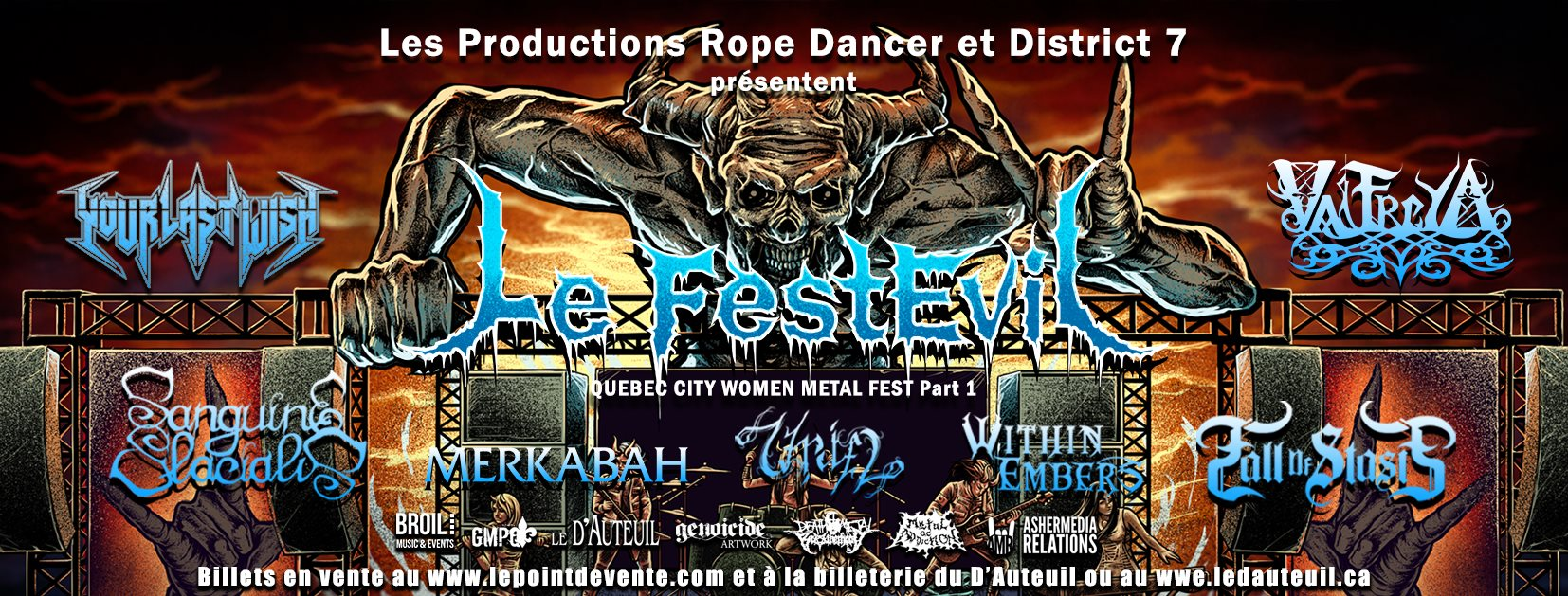 banniere concert Ride of the Valkyries Québec