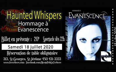 Photos-Haunted Whispers-Tribute to Evanescence – St-Jérôme 18 juillet 2020
