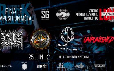 Critique & Photos – Québec Rock Contest – Québec – 25 juin 2021
